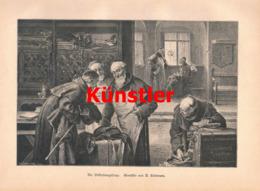 1408 R. Linderum Kloster Mönche Kleiderkammer Kunstblatt 1890 !! - Estampes