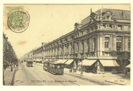 A0180[Postkaart] Bruxelles. - Le Boulevard Du Hainaut (ND Phot) [tram 576 Brussel Tramways Commerce Winkel] - Avenues, Boulevards