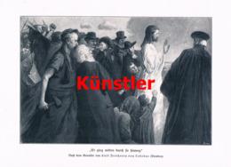 1412 Carl Freiherr Von Ledebur Heiland Christus Kunstblatt 1905 !! - Estampes