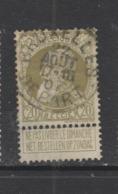 COB 75 Oblitération Centrale BRUXELLES Départ - 1905 Grosse Barbe