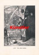 1414 Eduard Grützner Mönch Kloster Kunstblatt 1881 !! - Estampes