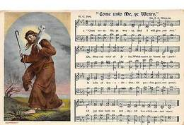 """Come Unto Me, Ye Weary"" Music Song Lyrics Notes, Jesus Shepherd Lamb - Altri"