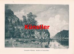 1416 Morten-Müller Norwegen Gebirgssee Kunstblatt 1894 !! - Estampes