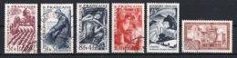France 1949 : Timbres Yvert & Tellier N° 823 - 824 - 825 - 826 - 829 - 839 - 840 - 841a - 842 - 842a Et 843 Avec Oblit.. - Frankreich