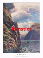 1419 Th. Von Eckenbrecher Norwegen Gairangerfjord Kunstblatt 1906 !! - Estampes