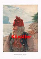 1420 Hans Dahl Norwegischer Bauer Kunstblatt 1900 !! - Estampes