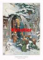 1422 E.H. Walther Christkinds Einkehr Engel Kunstblatt 1904 !! - Estampes