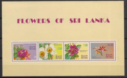Sri Lanka - 1982 - Bloc Feuillet BF N°Yv. 17 - Fleurs - Neuf Luxe ** / MNH / Postfrisch - Sri Lanka (Ceylan) (1948-...)