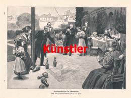 1423 Paul Hey Sonntagnachmittag Pfarrer Kirche Druck 1899 !! - Prints