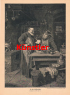 1424 E. Grützner Klosterküche Mönch Kloster Druck 1906 !! - Estampes
