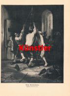 1425 A.G. Decamps Glockenläuten Kirche Pfarrer Druck 1910 !! - Estampes