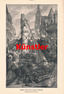 1426 J.E. Lenepveu Jeanne D` Arc Scheiterhaufen Rouen Druck 1907 !! - Estampes