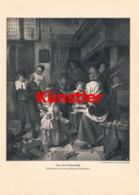 1427 Jan Steen Sankt Nikolaus-Fest Kinder Druck 1911 !! - Estampes