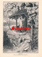 1428 Frank Kirchbach Osterläuten Ostern Druck 1898 !! - Estampes