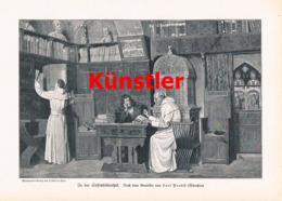 1429 Carl Probst Stiftsbibliothek Mönche Kloster Druck 1905 !! - Estampes