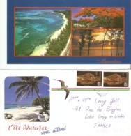 CP Ile Maurice 2000? -Mont Choisy, Multivues - CP + Enveloppe - Mauritius