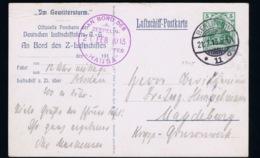 Deutsche Reich 21-2-1913 LZ Hansa  Zeppelin Sieger 5 X -> Magdeburg Im Gewittersturm - Luchtpost