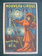 Carte Postale Publicitaire Nouveau Cirque Rue Saint Honoré Paris Illustrée Par Marcel Bloch - Publicité