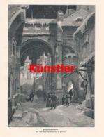 1434 Werner Zehme Weihnachten Spreewaldschule Druck 1898 !! - Estampes