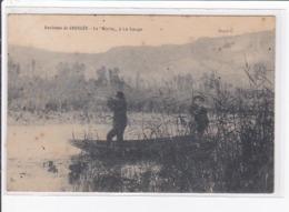Environs De GROSLEE : La Morte à La SAUGE (chasse Au Fusil) - Bon état (traces) - Autres Communes