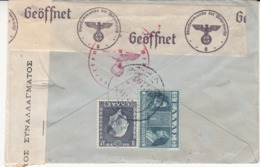 Enveloppe  Grèce  Vers    La Belgique     1*940    1945        2 Scan - Weltkrieg 1939-45