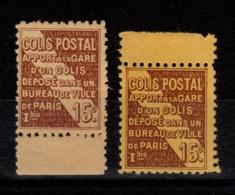 Colis Postaux - YV 95 N** Luxe En 2 Nuances , BdF - Neufs