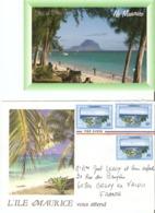 CP Ile Maurice 2000? - Flic En Flac - CP + Envelopp - Mauritius