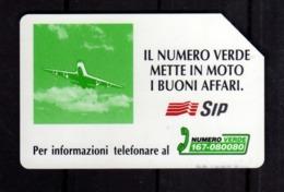 ITALIA ITALY SCHEDA TELEFONICA CARTA DI CREDITO SIP IL NUMERO VERDE METTE IN MOTO I BUONI AFFARI USATA USED LIRE 10000 - Italia