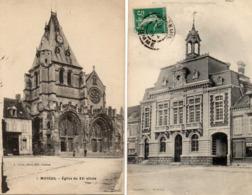 MOREUIL - L'Eglise Animée - L'Hôtel De Ville - Moreuil