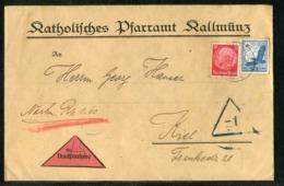 Deutsches Reich / Nachnahme-Brief MiF Ex Kallmuenz Nach Kiel (1258) - Germany