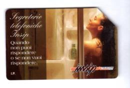 ITALIA ITALY SCHEDA TELEFONICA CARTA DI CREDITO INSIP SEGRETERIE TELEFONICHE USATA USED LIRE 5000 - Italy