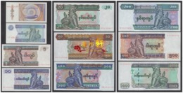 Myanmar 1994—2004 50pyas 1 5 10 20 50 100 200 500 1000kyats 10pcs UNC - Myanmar