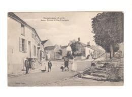 Courtomer. Seine Et Marne. Maison Tuffier Et Rue Principale. Personnages. Chiens. (3361) - Francia