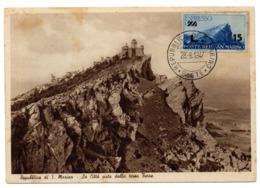 CPSM   REPUBLICA DI SAN MARINO      1947       LA CITTA VISTA DALLA TERZA TORRE - San Marino