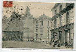 """37 TOURS Carte RARE Gare Voyageurs HOTEL De Nantes Clients Terrasse CAFE  Comptoir De Paris""""  écrite Mai 1914  D17 2019 - Tours"""