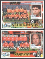 X019 GRENADA CARRIACOU GAMBIA SPORT FOOTBALL UEFA EURO 2000 TRAINERS NETHERLANDS RIJKAARD NORWAY SEMB 2BL MNH - Europei Di Calcio (UEFA)