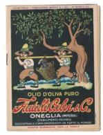 CARTOLINA POSTALE OLIO D'OLIVA FRATELLI CALVI ONEGLIA Con Listino - Pubblicitari