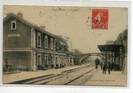 91 PALAISEAU Arrivée Train En Gare Voyageurs Quai 1909 écrite Timbrée Edit Neff   D17 2019 - Palaiseau