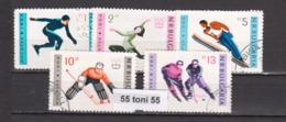 1964 WINTER OLYMPIC GAMES INNSBRUCK Mi 1426/31 6v.-used(O) Bulgaria/Bulgarie - Invierno 1964: Innsbruck