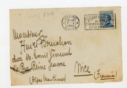 """ITALIE Yt N° 79 Obli. FLAMME """"TORINO 1920"""" SUR DEVANT DE LETTRE POUR LA FRANCE (NICE) - - Poststempel"""