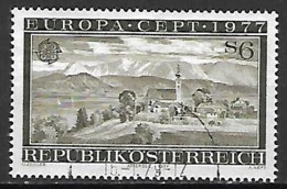 AUTRICHE   -  1977 .  Y&T N° 1383 Oblitéré.   EUROPA   /   Vue  D' Attersee - 1971-80 Used