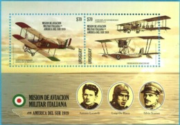 Uruguay 2019 ** HB Mision De Aviacion Militar Italiana 1919. Fuerza Aérea. - WW1 (I Guerra Mundial)