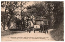 LA CORNICHE DE HONFLEUR A TROUVILLE L AUTOBUS EN PANNE TRES ANIMEE - Frankreich