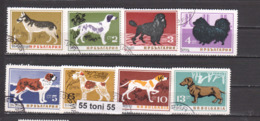 1964 Fauna HUNDE DOGS Mi 1478/85 8v.-used(O) Bulgaria/Bulgarie - Perros