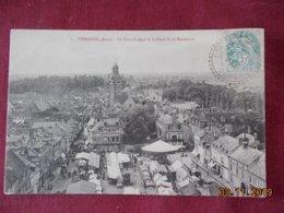CPA - Verneuil - La Tour St-Jean Et La Place De La Madeleine - Verneuil-sur-Avre