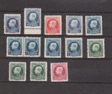Belgique - Petit Lot Entre 211 Et 219 - Tous ** - 1921-1925 Petit Montenez