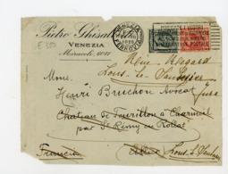 """ITALIE Yt N° 104+77 Obli. FLAMME """"VENEZIA 1920"""" SUR DEVANT DE LETTRE POUR LA FRANCE (CHARMEIL > LONS-LE-SAUNIER) - - Poststempel"""
