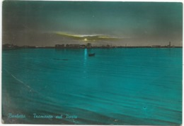 Z5064 Barletta - Tramonto Sul Porto - Panorama - Sunset Coucher / Viaggiata 1964 - Barletta