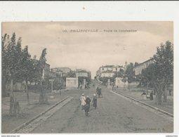 ALGERIE PHILIPPEVILLE ROUTE DE CONSTANTINE CPA BON ETAT - Skikda (Philippeville)
