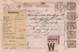 Autriche Bulletin D'expédition Bozen Pour La Suisse 1905 - 1850-1918 Imperium